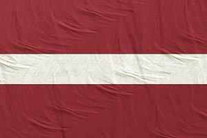 Latvia flag waving
