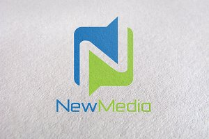 Letter N, New Media logo Template