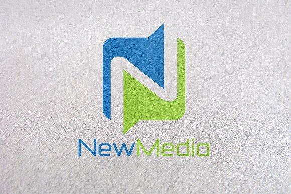 letter n new media logo template logo templates creative market