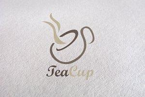 coffee, green tea, tea cup logo