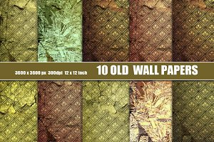 OLD WALL PAPER GRUNGE DISTRESSED