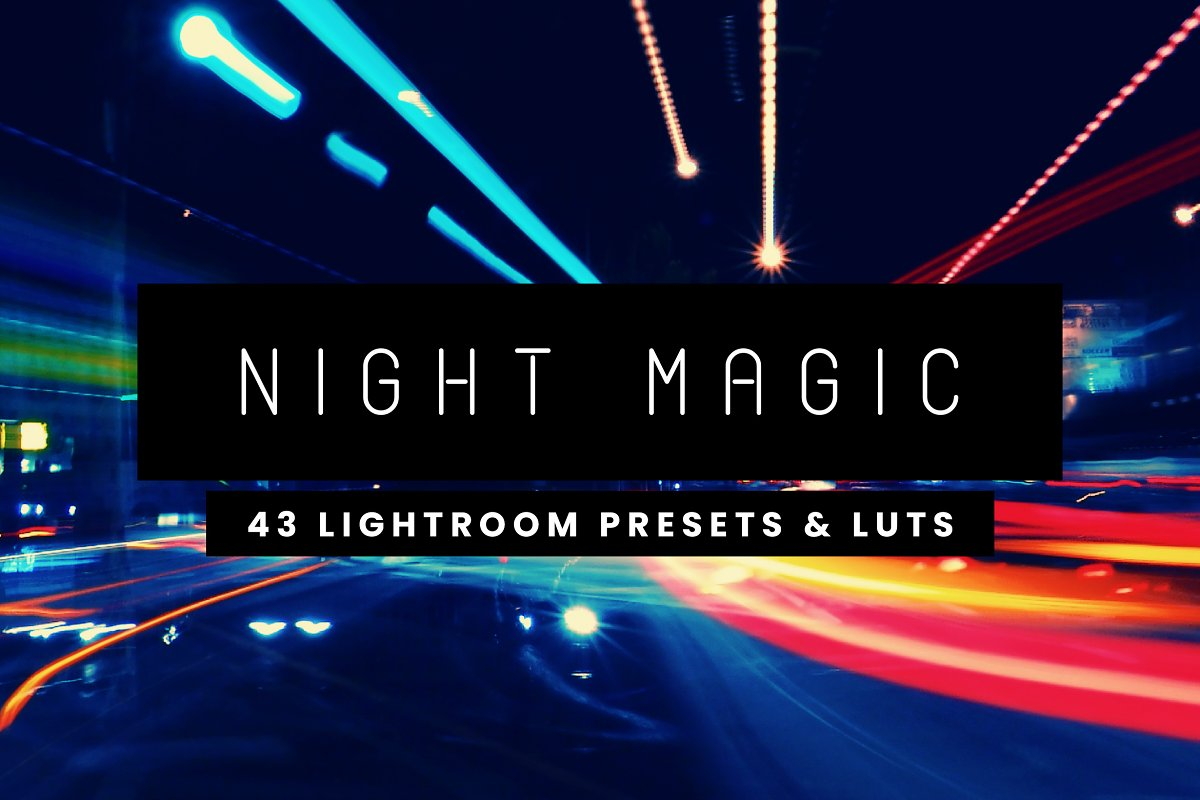 43 Night Lightroom Presets and LUTs ~ Photoshop Add-Ons