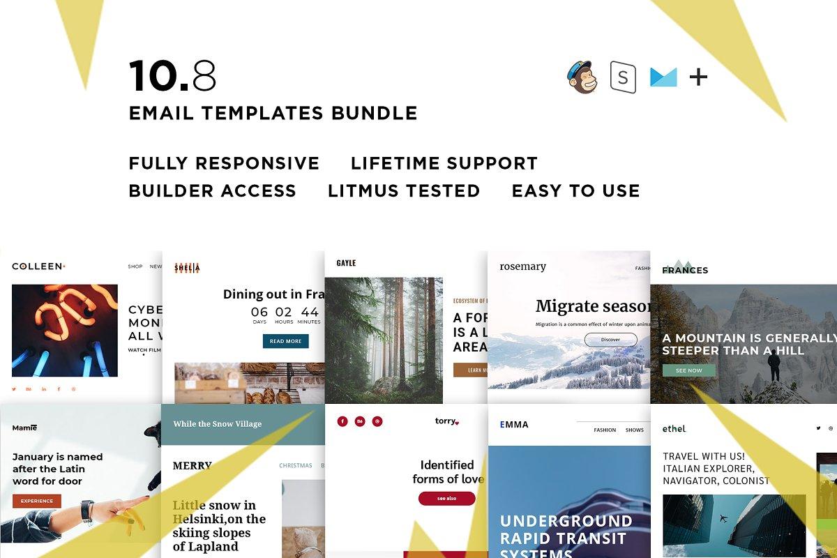 10 Email templates bundle VIII