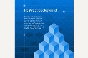 Abstract background with isometric c