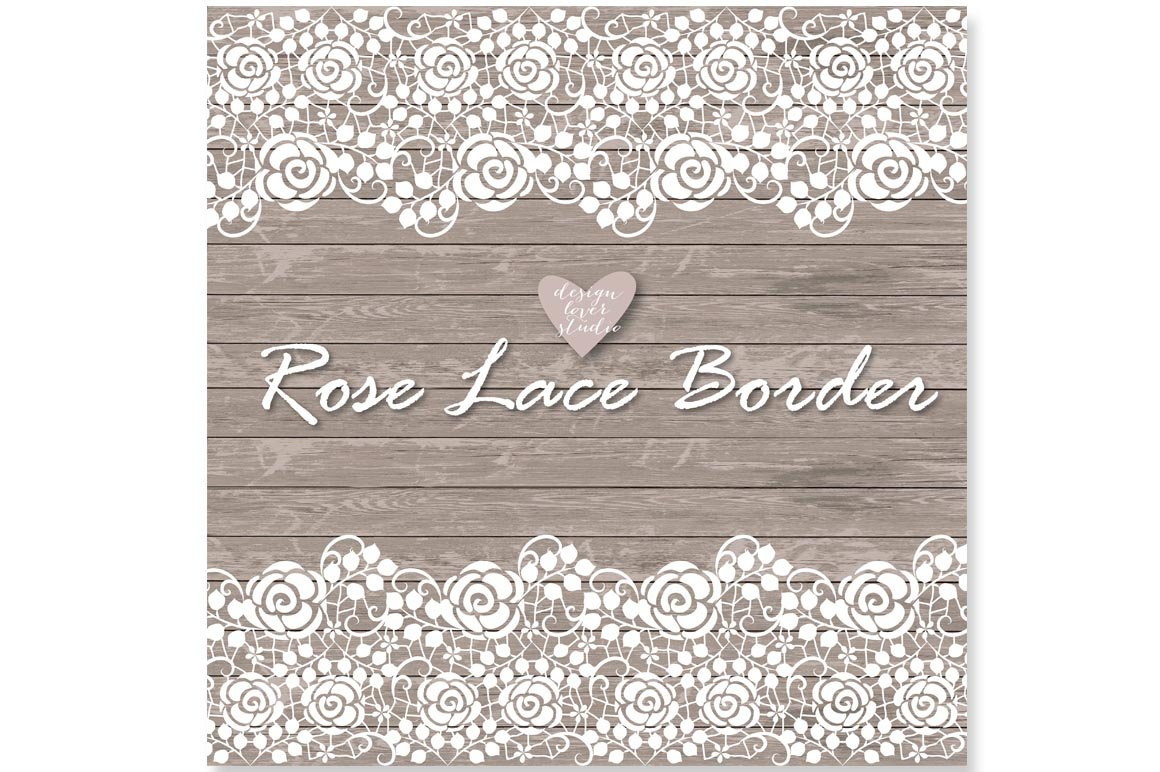 Vector Lace Border Illustrations Creative Market