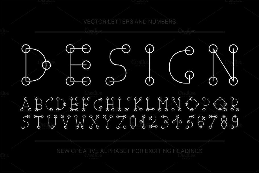 Vector english stylized alphabet