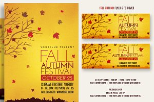 Fall Autumn Festival Flyer & FBcover
