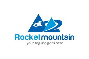 Rocket Mountain Logo Template