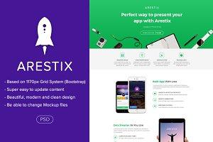 Arestix - App Landing Page PSD