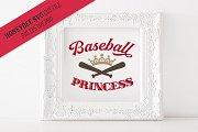 Baseball Princess SVG Cut File