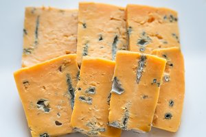 Pieces of blue cheese