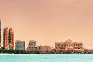 Abu Dhabi Skyline on a sunny day UAE