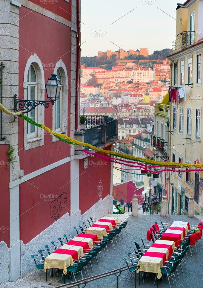 Outdoor restaurant. Lisbon,Portugal - Architecture