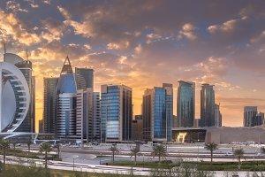 West Bay and Doha City, Qatar