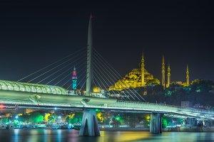 Bosphorus bridge at night Istanbul