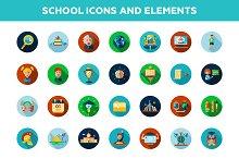 School Icons + 4 Illustrations Bonus