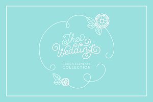 The wedding - design elements