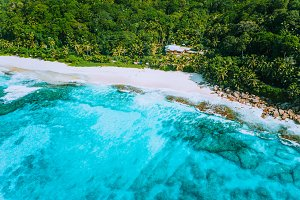 Aerial drone photo of great tropical