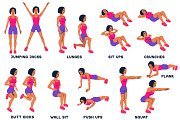 Sport exercises collection
