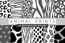 Black & White Animal Prints Papers