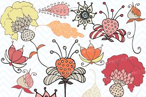 Autumn flowers clipart commercial