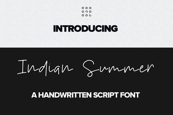 Indian Summer Handwritten font