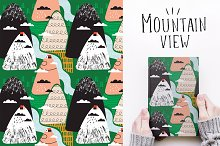 Mountain view seamless patterns by  in Patterns