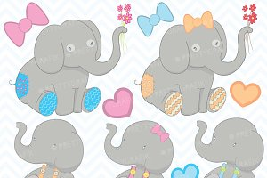 Elephant clipart commercial use