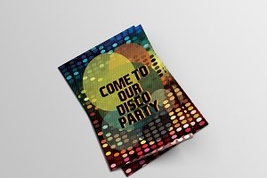 Disco invitation card