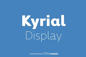 Kyrial Display Complete (12 fonts)