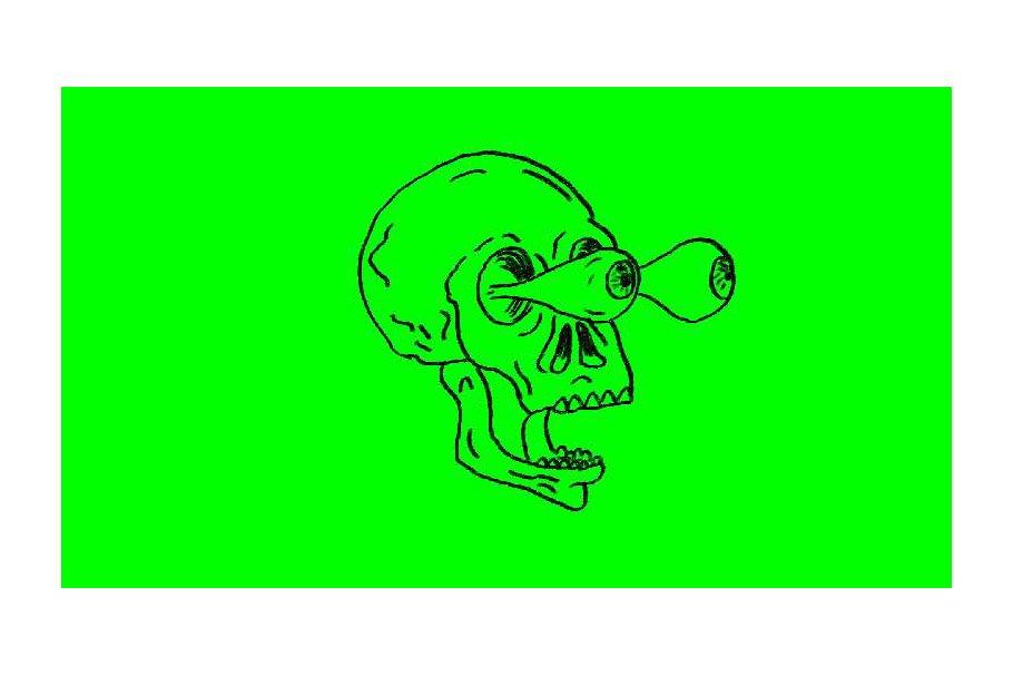 Animation Human Skull Eye Popping Ou