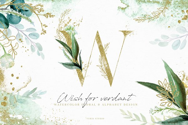 Illustrations: Veris Studio - NEW! Wish For Verdant - Design Set