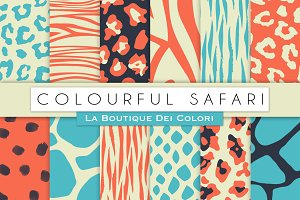 Colourful Animal Prints Papers