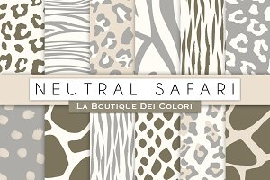 Neutral Animal Prints Digital Papers