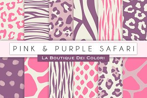 Pink & Purple Animal Prints Papers