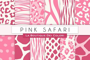 Pink Animal Prints Digital Papers