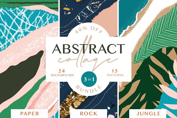 Graphic Patterns: Anugraha Design - 40% off - Abstract Collage BUNDLE