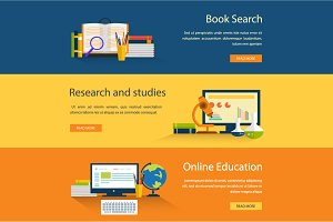 Education banners, 100% vector