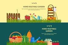 Vector banners - garden work