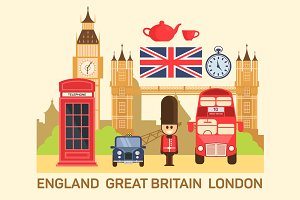 Vector illustration of Great Britain