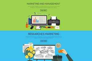 Marketing and management banners