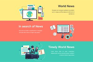 Vector media objects. World news