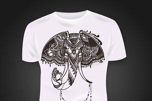Tattoo Elephant. Mehandi style