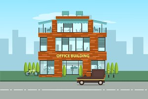 Modern office building, eps 10