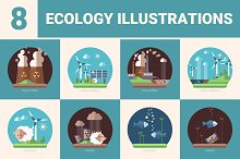 Set of Ecology Illustrations