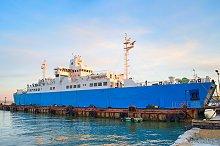 Ferry boat in Crimea port