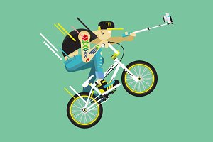 Active bicyclist, BMX
