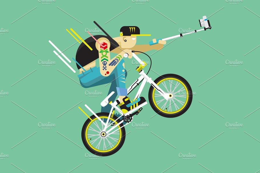Active bicyclist, BMX