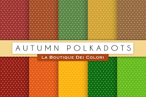 Autumn Polkadots Digital Paper