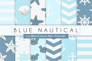 Blue Nautical Digital Paper